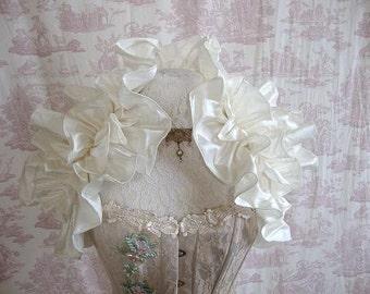 Dupioni Silk Wedding Shrug STEAMPUNK Burlesque Bridal By Gothic Burlesque