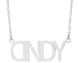 925 Sterling Silver Personalized Any Name Plate Pendant Necklace - Nameplate Necklace