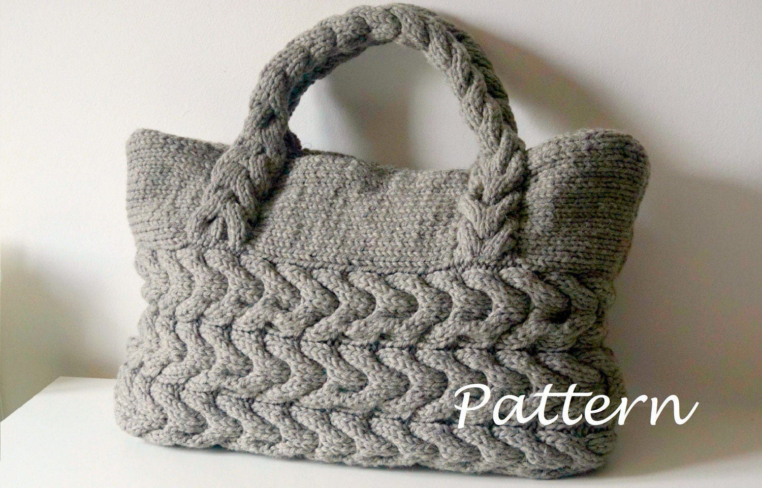 KNITTING PATTERN Cable Bag Knitting Pattern Knit Bag Pattern