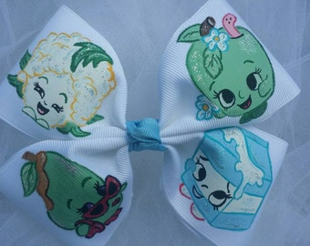 Boutique Inspired Shopkins You Pick Your Favorites Handpainted Hairbow