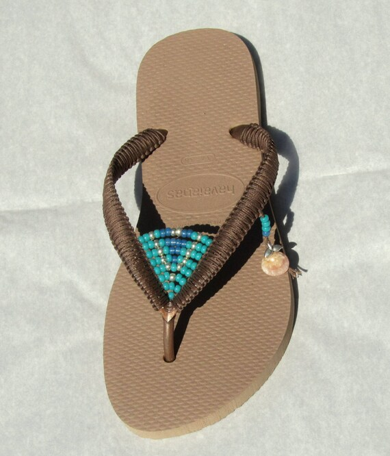 on Vegan Gold Beaded Flats Silver Bronze Sandals Decorated Sandals Flip Turquoise Rose Veagan Havaianas Shoes based amp; Bohemian Flops qCcHfy4Zn