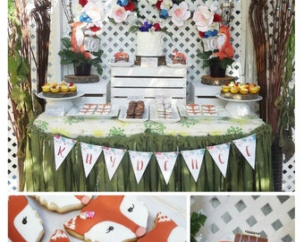 Woodland Party Printable | Woodland Birthday Decorations | Woodland Party | Fox Birthday |  Fox Decorations Fox Party| Epic Parties by REVO