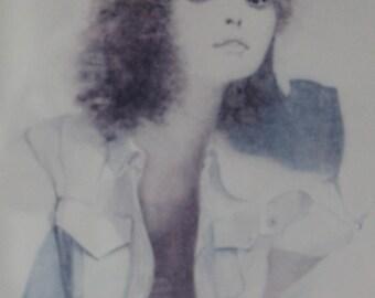 Vintage Christine Rosamond Lithograph Print, Framed,
