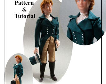 Dollhouse Doll MARCUS Man Doll DIY Pattern and Tutorial PDF Miniature Dollhouse 1:12 Scale Instant Download (Experienced)