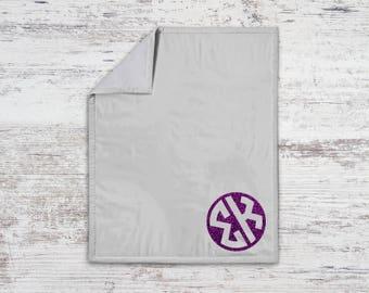 SK Sigma Kappa Monogram Sweatshirt Blanket Throw Greek Licensed Sorority Gift