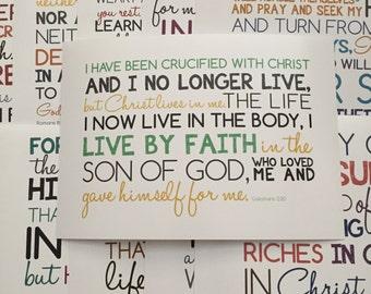 Set of 12 Printable Bible Verses - 4x6 JPEGS