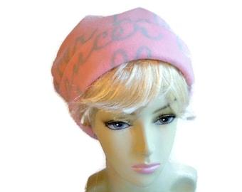 Ballet Fleece Slouchy Hat, Ballet Dance Cap, Ballet Dance Hat, Pink Fleece Slouchy Beanie, Pink Fleece Cap, Dancer Slouchy Hat