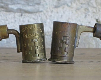 French gunpowder and lead shot measure, 2 available