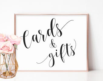 Cards and Gifts Sign Printable, Gift Table Sign, Cards Sign, Gifts Sign Wedding, Wedding Gift Table, Baby Shower Signs, Bridal Shower Signs