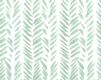 MINT Green Baby Bedding Green Fitted Crib Sheet -Changing Pad Covers /Mini Crib Sheets / Nursery Bedding /Neutral Crib Bedding Watercolor