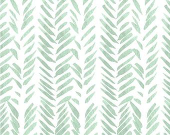 Bio mintgrün grün Baby Bettwäsche ausgestattet Krippe Blatt - Pad Abdeckungen /Mini Spickzettel ändern / Kindergarten Bettwäsche Bettwäsche Aquarell /Crib