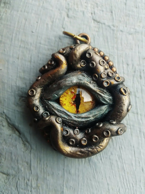 Tentacles pendant witch pendant pagan jewelry creepy eye aloadofball Gallery