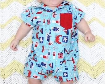 Pat-a-Cake Romper: Baby Romper Pattern, Toddler Romper Pattern