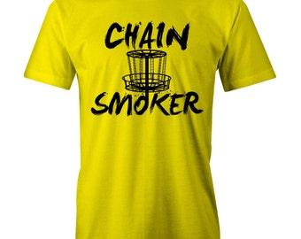 Chain Smoker T-shirt Disc Golf Golfer Frisby
