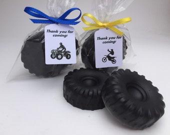 Dirt Bike Favor: ATV Favor, Dirt Bike Tire Soap,ATV Party Favor
