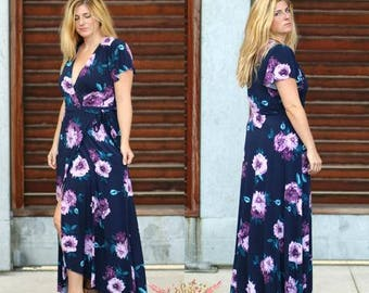 Summer Dawn Wrap Dress PDF Sewing Pattern Women Sizes XS-XXXL