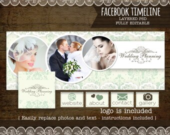 Facebook Timeline Cover - Facebook Timeline PSD Template - Photography,INSTANT DOWNLOAD  Photography Facebook - Customize Facebook Page