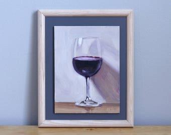 Wine Painting, Original Still Life Painting by Aleksey Vaynshteyn