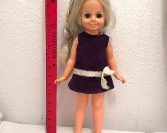 Vintage Blonde Velvet Doll