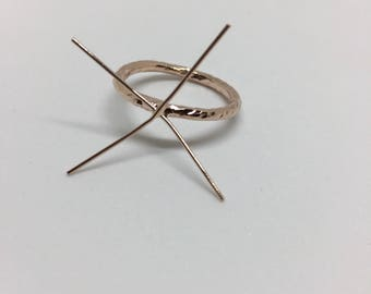 Rose Gold Filled Claw Ring Blank/Jewelry Making/Supplies