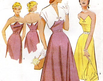 Butterick 6633 RETRO '51 Strapless Dress Bolero Sizes 12 - 14 - 16 OOP ©2000