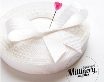 Whole Roll (33 yards) White 18mm Millinery Hat Padding Petersham Ribbon