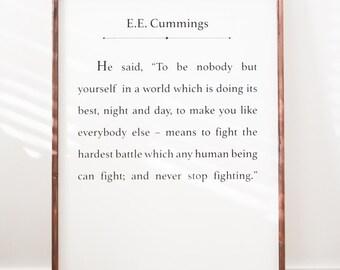 EE Cummings - Wood Sign