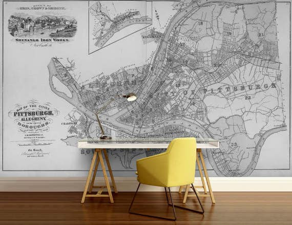 City map wallpaper street wall mural philadelphia map te gusta este artculo gumiabroncs Image collections