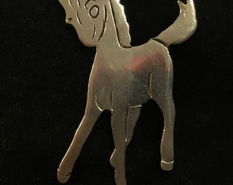 Vintage TAXCO TA-153 Sterling Silver 925  Pony Brooch MARKED