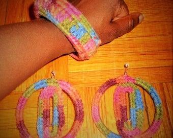 Don't Waste My Time, Crochet Earrings and Bracelet Set