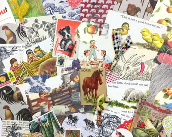 Country Life Ephemera Pack/45+ Pieces/Mid Century Ephemera/Art Journaling/Junk Journaling/Mixed Media/Collage Art/Card Making