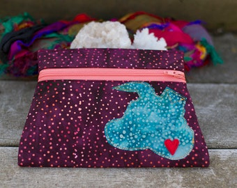 Flippy Eared Fabric Pouch