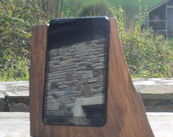 8 Inch Tablet Stand, Elm Tablet Stand, Rustic Tablet Stand, iPad Stand, Tablet Docking Station, Birthday Gift, Gift Ideas