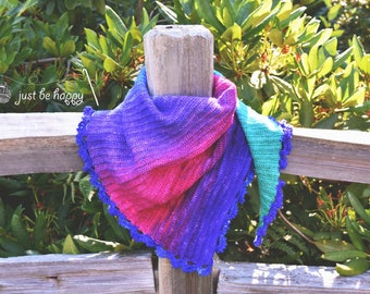 Instant Download, Gradient Scarf Crochet Pattern