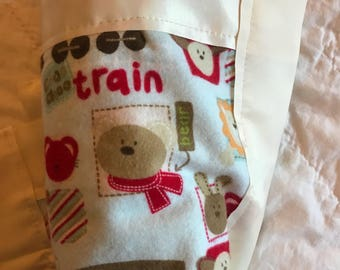 Trains and Animals Stroller Quilt