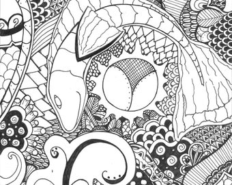Zentangle - Colorable or Print