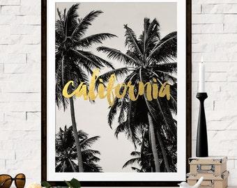 California Print, California Art, Palm Tree Photo, California Travel Poster, Palm Tree Art, California Art, Bridesmaid Gift, Wedding Gift