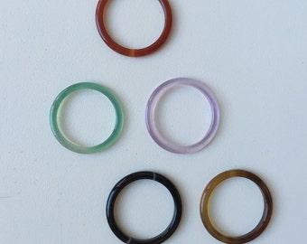 Agate Non-Metal Feng Shui Ring