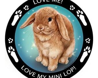 Mini Lop Rabbit My Best Friend Magnet