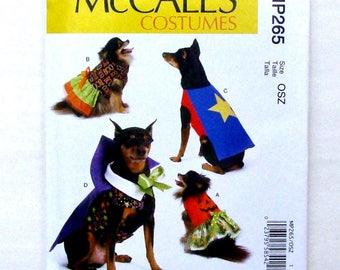 """McCall's Dog Costumes Sewing Pattern #MP265/M7495 - Sizes S(6 1/2""""-9""""),M(9""""-11""""),L(11""""-13""""),XL(13 1/2""""-16""""),XXL(16""""-18"""") - UNCUT F/F"""