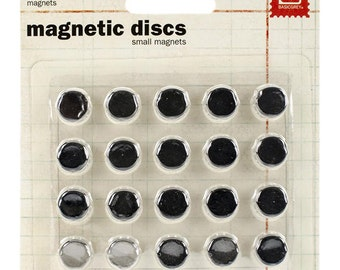 Small Magnets - Self Adhesive Magnets - Slim Magnets - Strong Magnets - Magnets - Crafting Magnets - Grey Magnets - Album Magnets - 13-029