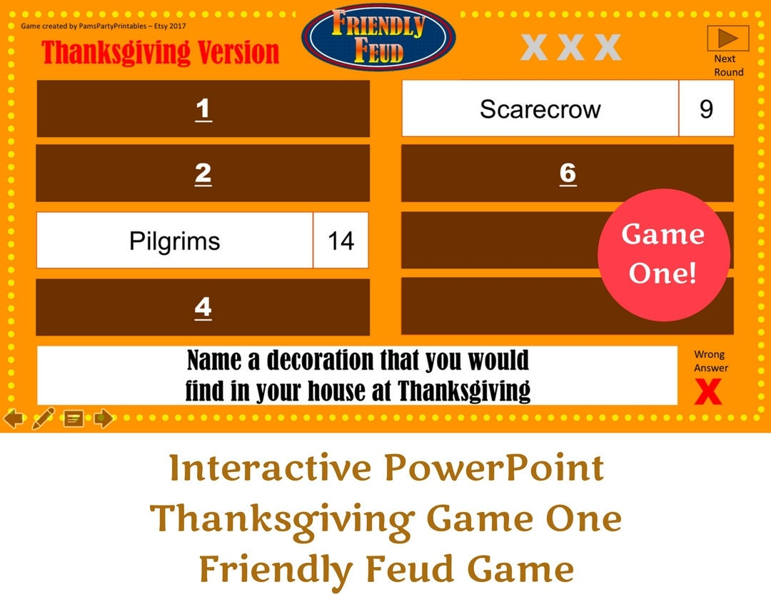 Thanksgiving friendly feud game one family feud zoom alramifo Choice Image