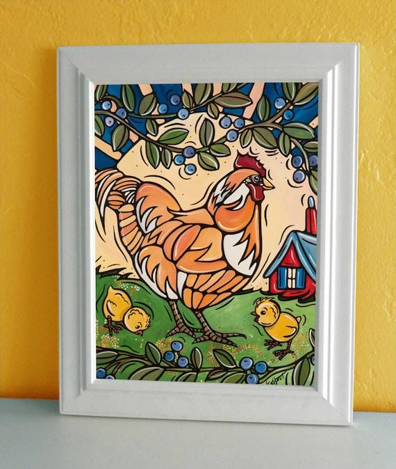Huhn Kunst Kinderzimmer Dekor Huhn Küche Dekor 5 x 7