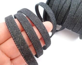 Flat Jeans Fabric Cord_RMA063254135441B_Cords_jeans Black _of 10x2 mm _Sale per meter/ Yard
