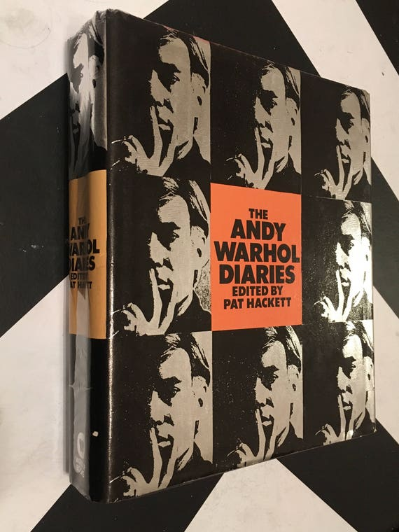 The Andy Warhol Diaries Edited by Pat Hackett (Hardcover, 1989) vintage book