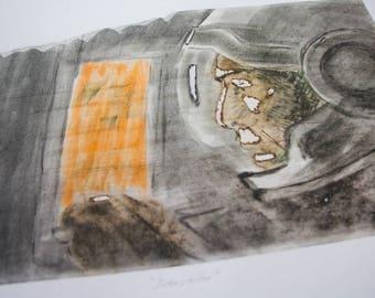 """Silkscreen print, """"Interstellar"""""""