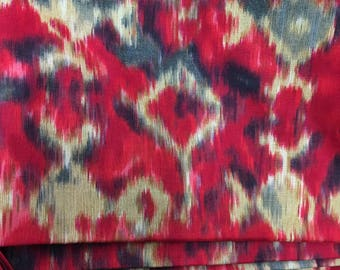 Indian Fabric, Ikat Style Print, Fabric by the yard, Quilting fabric, Indian Cotton Fabric, Printed Ikat Design fabric, Designer fabric