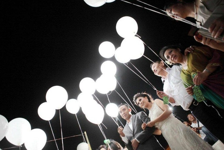 White led lights for balloons wedding send off party zoom junglespirit Images