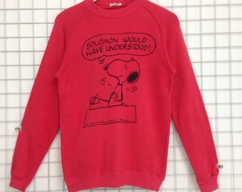 Vintage Snoopy Sweatshirt Big Logo Nice Design