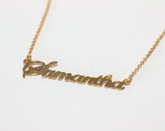 14k name necklace Etsy